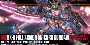 HGUC 1/144 RX-0 Full Armor Unicorn Gundam Destroy Mode RED Color Ver. Just Added BOX ART, a lot of Official Images, Info Release