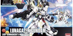 DENGEKI's REVIEW: HGBF 1/144 LUNAGAZER GUNDAM. Box Art, Images, Info Release