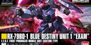 HGUC 1/144 BLUE DESTINY UNIT 1 EXAM: Just Added Box Art and Many NEW Big Size Official Images, Info Release