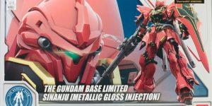 FULL REVIEW: RG 1/144 THE GUNDAM BASE LIMITED SINANJU [METALLIC GLOSS INJECTION]