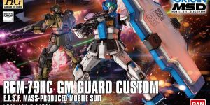 HG Gundam the ORIGIN MSD 1/144 GM GUARD CUSTOM: Full Official Images till now, Info too