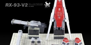 MG 1/100 (+Resin Parts) FA-93-ν2HWS Hi-ν Gundam Heavy Weapons System Type Ver.Ka : Remodeled by 水星工房 REVIEW Big Size Images, Info