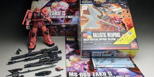 [WORK REVIEW] HG GTO 1/144 Char Aznable's Zaku II + HGBC 1/144 Ballistic Weapons: BALLISTIC ZAKU painted build
