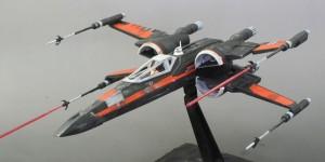 gunda's Custom Paint: Bandai x Star Wars 1/72 Poe Dameron X-Wing Fighter. REVIEW, Info