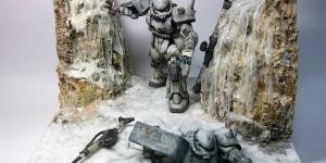 """DIORAMA MS-06J ZAKU II """"RETREAT"""" Full PHOTO REVIEW. Work by minickm"""