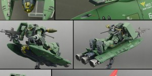 [キャラホビ2015 C3xHobby] Chara Hobby 2015: 1/144 SHACKLES Neo Zeon Sub Flight System by Zick Form. Photo Review, Info