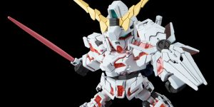 "(New Images) In August 2019, ""SD Gundam Cross Silhouette Unicorn Gundam (Destroy Mode)"" will be released. (1,080 Yen)"