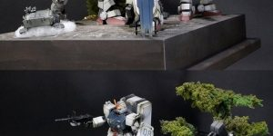 MATEVER 1.5 GUNPLA 1/144 DIORAMA: The 08th MS Team [weathering finish] FULL Photoreview, Big Size Images