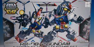 [SD GUNDAM CROSS SILHOUETTE] SDCS RX-78-2 GUNDAM and CROSS SILHOUETTE FRAME SET Review No.76 Images